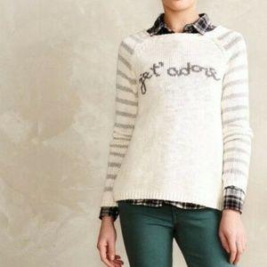 Moth Anthropologie Jet' Adore Stripe Sweater